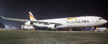 Airbus A340 w Katowice Airport