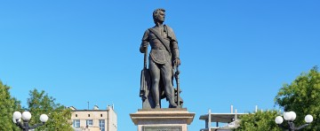 Monument of prince Grigory Potemkin-Tavricheski, the founder of Kherson, Ukraine
